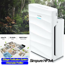 1500sq ft Large Room Air Cleaner Purifier 5Stage Purification Washable Prefilter