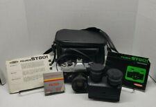 Fujica St801 35mm Slr Film Camera with Fujinon 1:1.8 55mm Lens + Accessories