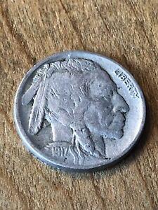 1917D Buffalo Nickel F