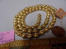 "Christmas Garland Mercury Glass Antique Gold 24"" Long 5/16"" Beads 5618 Vintage"