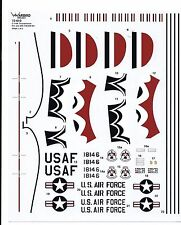 Warbird USAF Thunderbirds, C-119F Support Aircraft Decals in 1/72 010, NO INSTR.
