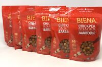 6-Pk BIENA Chickpea Snacks, Barbeque, 5 oz ea, Gluten Free, Vegan (V5)