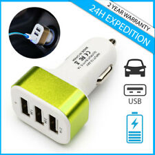 Best 3x Port Triple USB A+ Auto lader Car Charger Oplader Chargeur Voiture Green