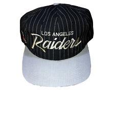 Vintage Los Angeles Raiders Script Snapback Hat Cap by Sports Specialties NWA
