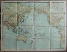 GERMAN WWII KRIEGSMARINE SEA MAP 1942 DATED - PACIFIC OCEAN: U-BOAT, CONVOYS