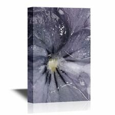 wall26 - Pansy Flower Canvas Wall Art - Pansy Flower Petal Close Up - 24x36