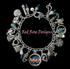 ~ MAKO ISLAND OF SECRETS, H2O JUST ADD WATER MERMAID THEMED CHARM BRACELET~