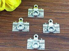 12pcs camera Tibetan Silver Bead charms Pendants DIY jewelry 15x15mm