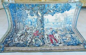 French Tapestry The Hunt of Maximilian Silk Screened Handmade New Old Stock