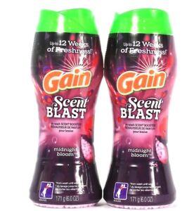 2 Ct Gain 6 Oz Scent Blast Midnight Bloom In Wash Scent Booster 12 Weeks Fresh