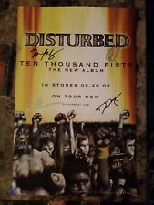 Disturbed signed Poster