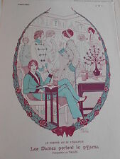 1913 Original Print  Les Dames portent le Pyjama Caricature