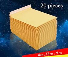 20 pieces 110x130+40mm Bubble Mailers Padded Envelopes Bags