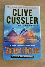 Zero Hour by Clive Cussler - 1st Edition Hardcover HC Kurt Austin NUMA Good