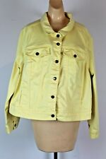 Woman Within Yellow Coat Button Up Size 22W (N)