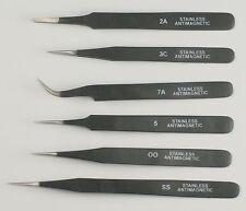 PARUU® 6 piece Epoxy coated tweezers set st36