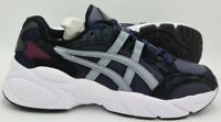 Asics Gel Leather/Suede Trainers 1021A241 Black/White/Blue UK8/US9/EU42.5
