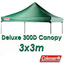 Coleman Deluxe 3x3m Green Gazebo Canopy Roof Replacement Cover Top Fits OZtrail
