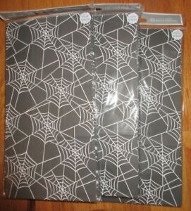 45 Hallmark Halloween Favor Bags Sacs Gift Bag Treats Lunch Spider Web or Orange