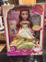 2007 DISNEY PRINCESS ENCHANTED TALES BELLE DOLL NRFB SHE SINGS SOMETHING THERE