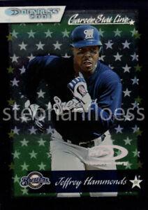 2001 Donruss Stat Line Career #98 Jeffrey Hammonds 122/341 Milwaukee Brewers