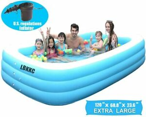 210X150X68cm+Pump BYM 4Layer 3.05 Meter Inflatable Paddling Family Kids Swimming Pool Elektrik Pump