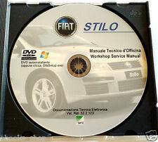 DVD MANUALE TECNICO D'OFFICINA FIAT STILO 1.2-1.6-1.8 16V - 2.4 -1.9JTD 80-115cv