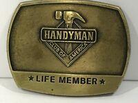 1996 Handyman Club Of America Life Member Hammer Belt Buckle 3 Inch
