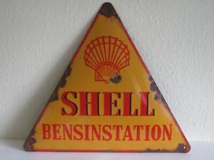 Altes + seltenes Shell Emailschild - Absolute Rarität im originalen Fundzustand