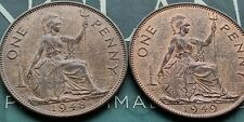 Penny 1948 and 1849 George VI