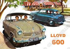 Lloyd 600 Auto PKW Poster Plakat Bild Schild Kunstdruck Art Print