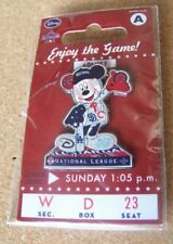 2010 NL National League All-Star Mickey Mouse Disney lapel pin MLB