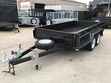 "9x5 Full Checker Plate 15"" High Sides Tandem Trailer  - NEW WHEELS & TYRES"