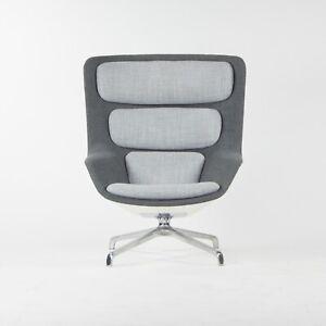 Herman Miller Grey Fabric Striad High Back Lounge Chair Markus Jehs Jürgen Laub