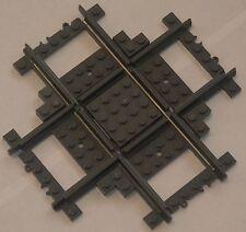 Custom Lego City 90 Deg Cross / Crossover Track (grey) Power Function & RC Train