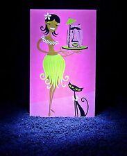 "SHAG Rare 2003 ""HULA HOOCH"" MINI Greeting Card -Josh Agle Notecard Pop Art - NEW"