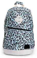 New Womens Girls Element Cammie Blue Leopard Backpack Laptop Bag Vintage Style