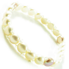 Fashion Bracelet Pearl Adjustable Bangle round bead Pink White one line New chic