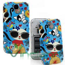 Cover copri batteria Gatti Spaziali per Samsung Galaxy S4 i9505 copribatteria
