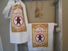 flour sack towel, tea towel, kitchen linens, christmas towel, gingerbread man