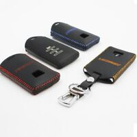 Leather Key Cover Car Key Fob Bag Case Wallet Holder for Luxgen 7 M7 U7 MPV