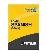 ROSETTA STONE Spanish (SPAIN)  LIFETIME  Access W15