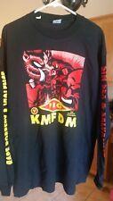 KMFDM v PIG 1994 Eat or be Eaten vintage licensed concert long-sleeved shirt NEW