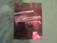 1989 Fender Amplifiers Catalog