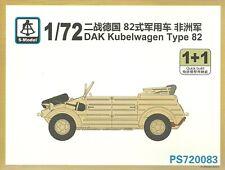 S-Model 1/72 Kubelwagen Type 82 (DAK) (2 kits per box)