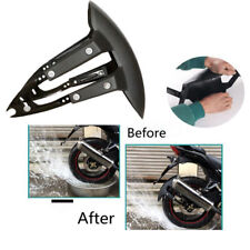 Universal Motorcycle Rear Wheel Cover Fender Splash Guard Mudguard + Bracket kit