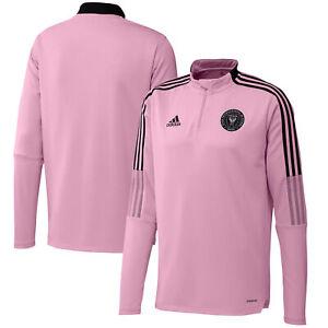 Inter Miami CF Training Top Long Sleeves Zipped Neck Sport Shirt - Pink - Adidas