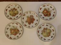 Set of 5 Vintage Winterling Bavaria Germany Fruit Pattern salad/small plates