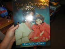 New Marie Osmond's Collector Dolls The First Ten Years Hardcover Book Cellophane