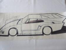 New ListingVintage Kremer Racing Porsche 935 Design Sketch Drawing Art Nottrodt